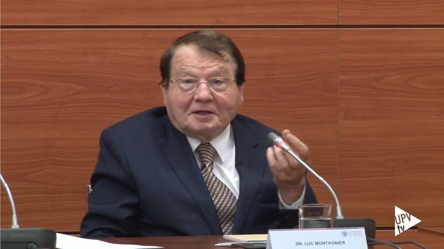 Luc Montagnier, durante su conferencia en la UPV