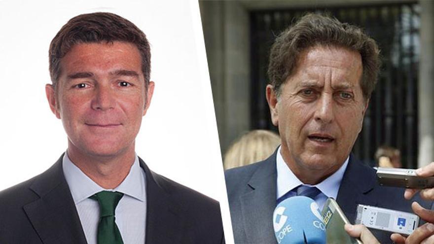 El hasta ahora subdelegado del Gobierno en Santa Cruz, Guillermo Díaz Guerra y Luis Miguel Molina González por Las Palmas.