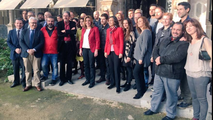La presidenta de la Junta ha analizado con el sector la Ley del Cine andaluz / @JuntaInforma
