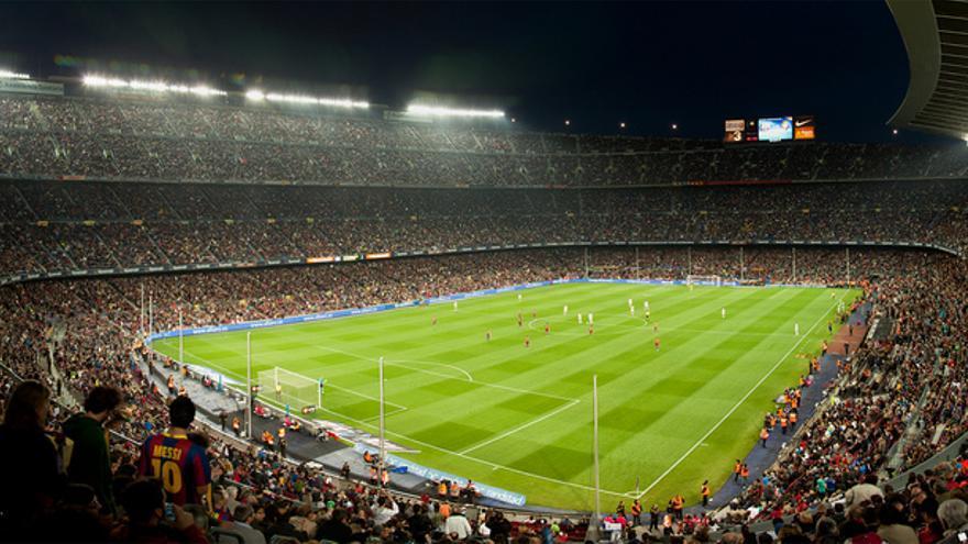 Aspecto del estadio del F. C. Barcelona durante un partido. / Freddy Monteiro