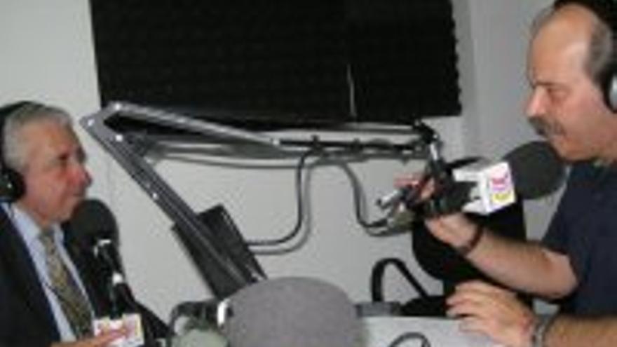 Lorenzo Olarte, durante la entrevisa en La Buena Tarde.