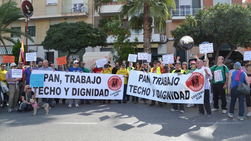 La Asamblea por la Dignidad se ha manifestado hoy en Murcia