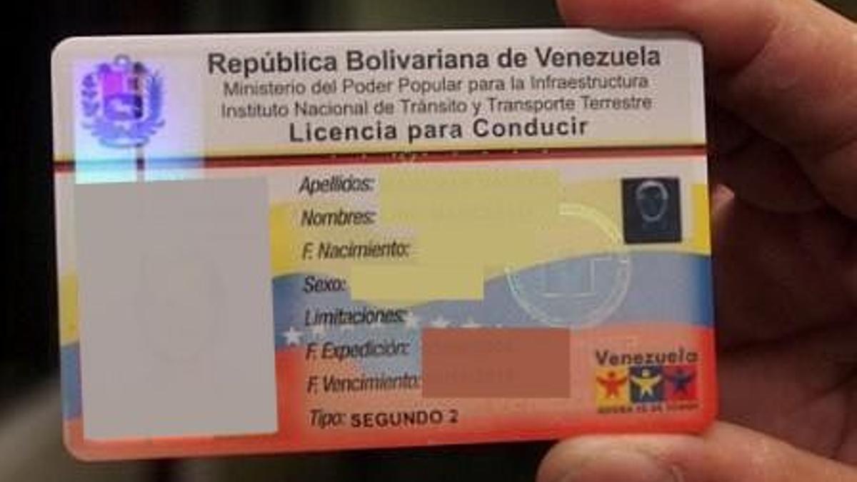 Licencia para conducir de la República Bolivariana de Venezuela