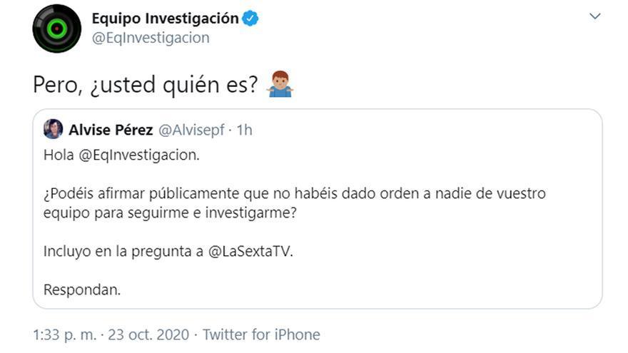 La respuesta viral de 'Equipo de investigación' a un tuitero