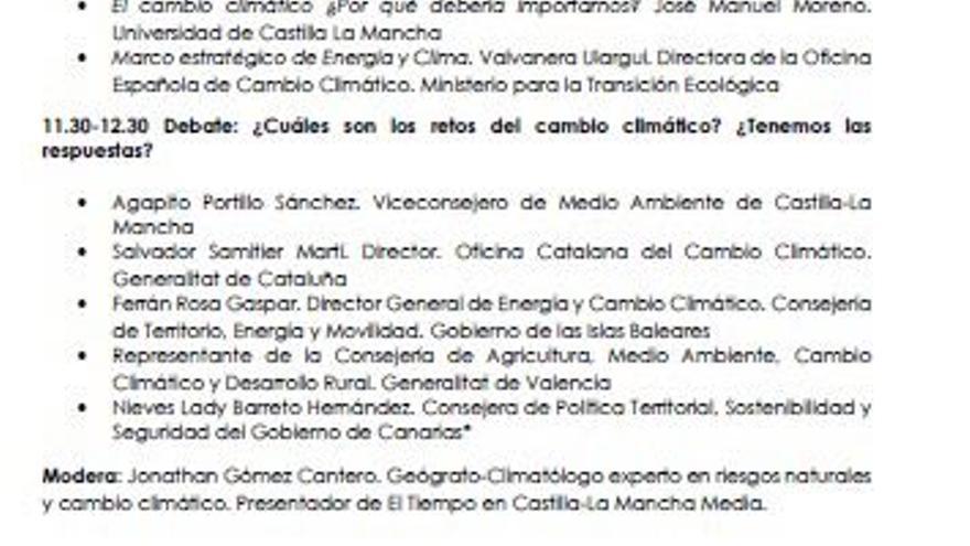 Previsión del debate del Conama Local 2019 en el que estaría la consejera de Política Territorial Nieves Lady Barreto.
