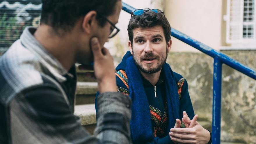 Mezquida durante la entrevista con la Revista Amberes. | VÍCTOR VÉLEZ