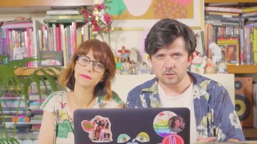 Borja Prieto y Natalia Flores, en una imagen de su canal de Youtube