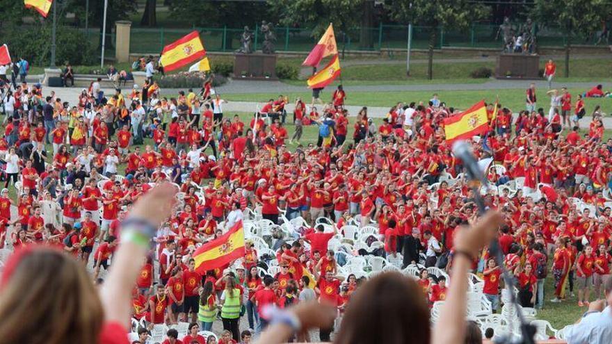 Españoles en las jornadas de la juventud católicas de 2016.