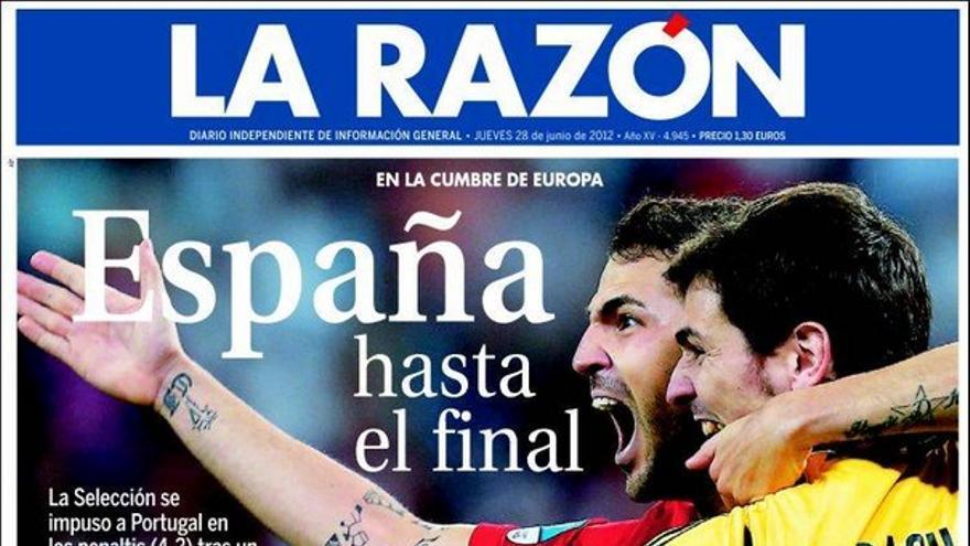 De las portadas del día (28/06/2012) #9