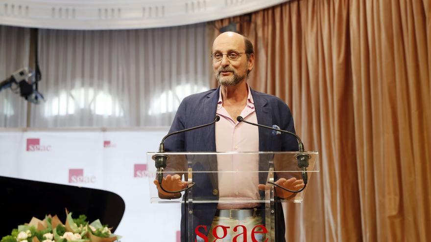 """José Miguel Fernandez Sastron durante la ceremonia de entrega de las llaves de """"La casa de los autores"""" en Madrid,"""