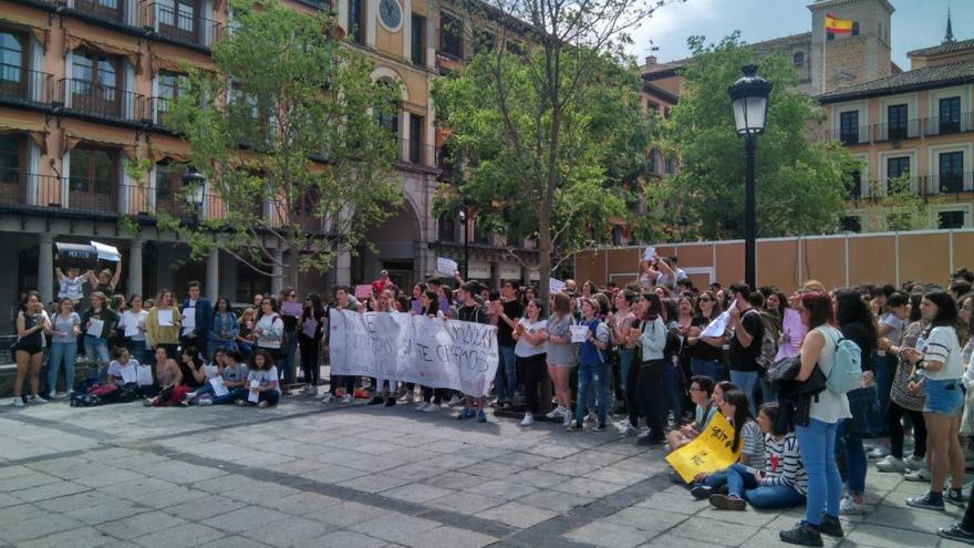 Manifestación contra la sentencia de 'La Manada' en Toledo