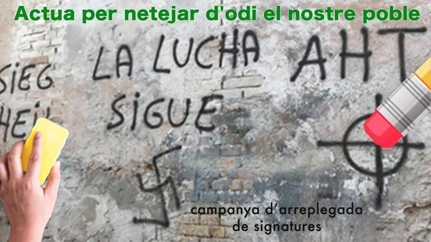 Se ha lanzado una recogida de firmas en Change.org para actuar contra las pintadas
