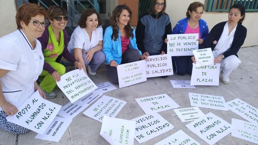 Protesta escuelas infantiles CLM