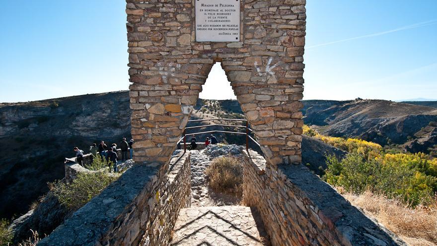 Mirador de Félix Rodríguez de la Fuente en el cañón del río Dulce