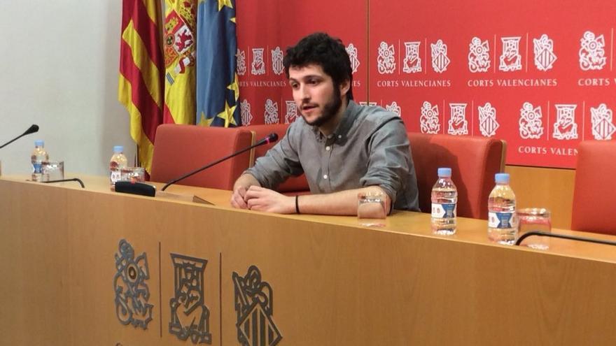 El síndic de Podem en las Corts, Antonio Estañ