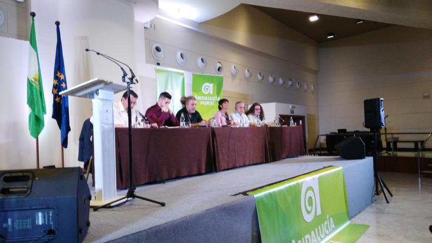 Mesa del congreso de Andalucía Por Sí