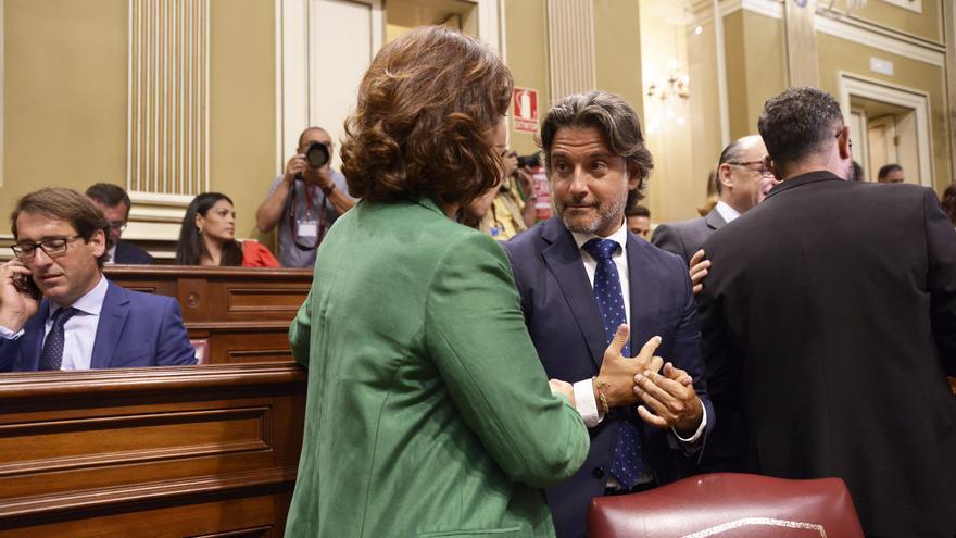 Gustavo Matos, en la Sesión Constitutiva del Parlamento de Canarias