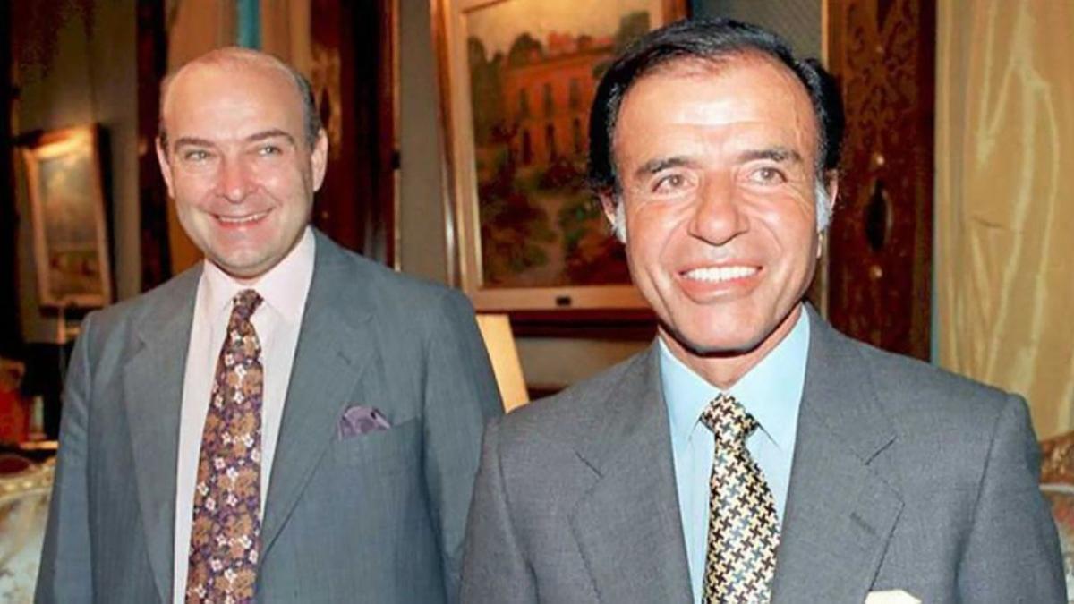 Domingo Cavallo, junto a Carlos Menem.