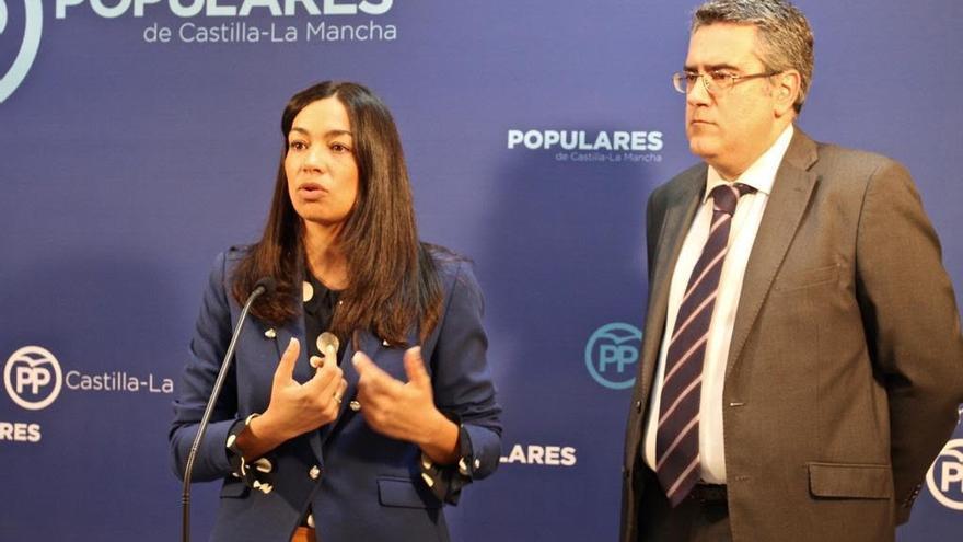 Claudia Alonso y Miguel Ángel Rodríguez FOTO: PP CLM