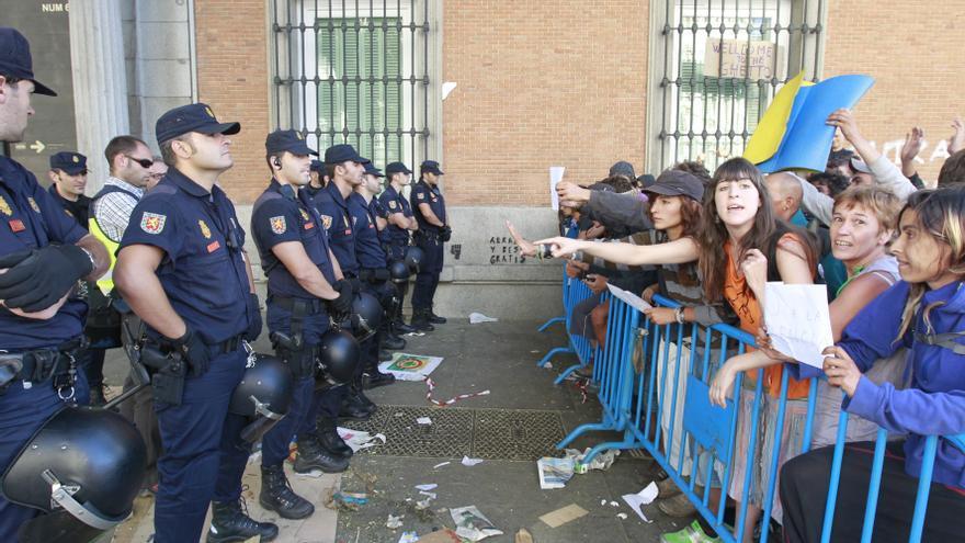La plataforma Rodea el Congreso instruye a los manifestantes con tácticas de resistencia ante la Policía