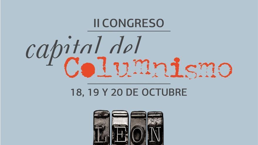 Cartel del festival Capital del Columnismo de León.