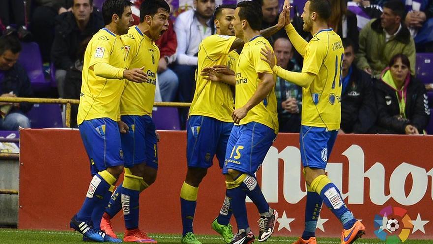 """El Real Valladolid y la UD Las Palmas empataron el primer """"asalto"""" de la promoción de ascenso (1-1). (Foto: UD Las Palmas/ LaLiga)"""