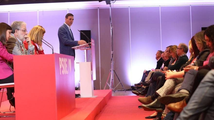 Pilar Alegría ha asistido al Comité Federal del PSOE desde la primera línea.
