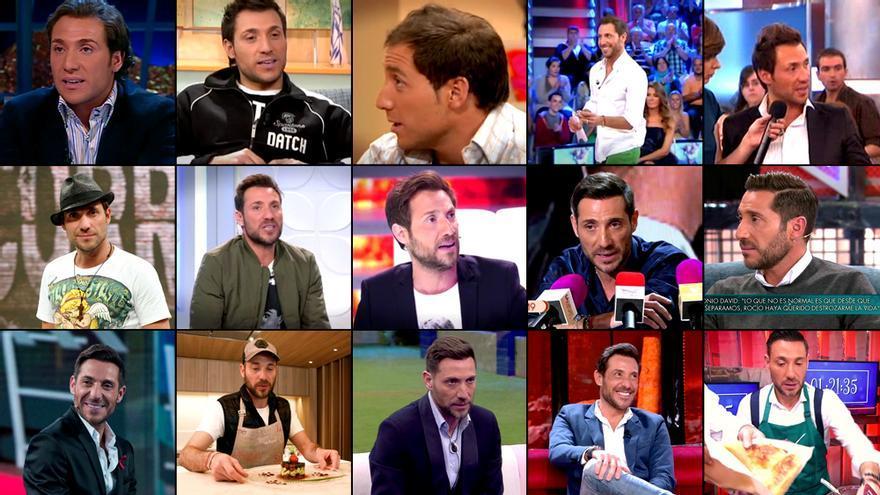 Apariciones de Antonio David Flores en Mediaset.