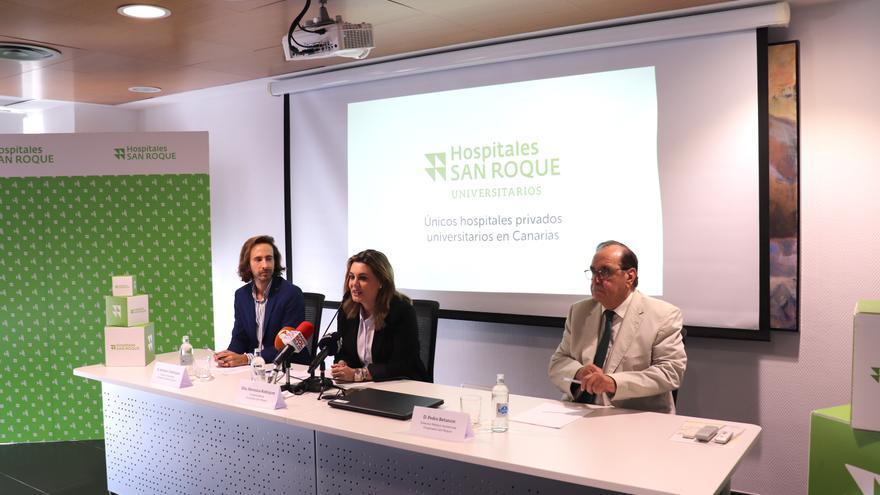Rueda de prensa de la presentación de la acreditación como hospital universitario de Hospitales San Roque.