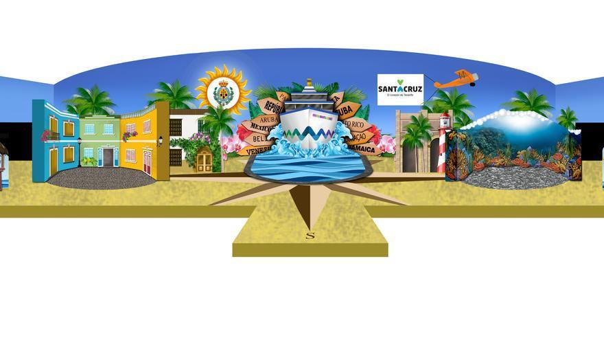 Diseño del escenario del Carnaval 2017