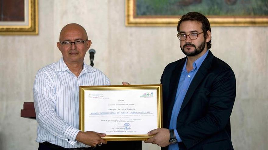 El poeta cubano Sergio García Zamora gana el Premio Internacional Rubén Darío 2016