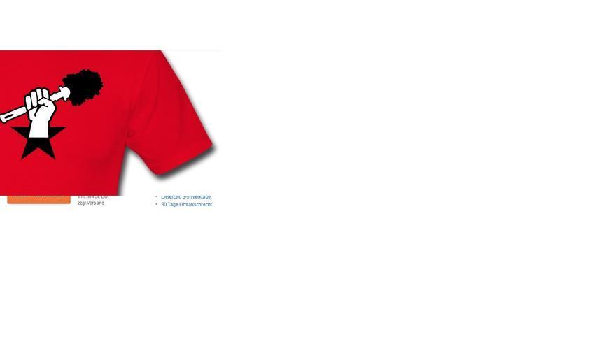 """Imagen de una tienda online que vende camisetas con alusiones a la """"revolución de las escobillas del váter"""""""