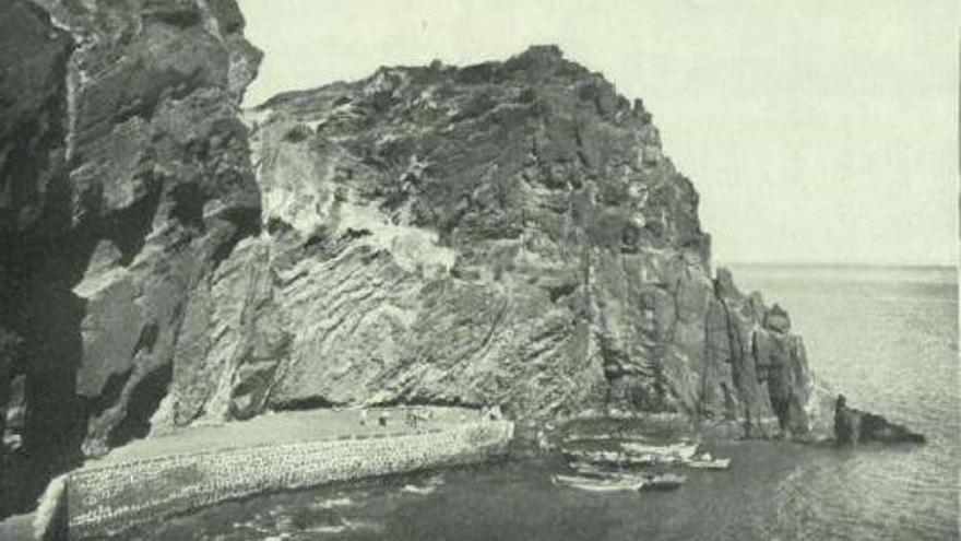 Antiguo embarcadero de San Sebastián en 1918