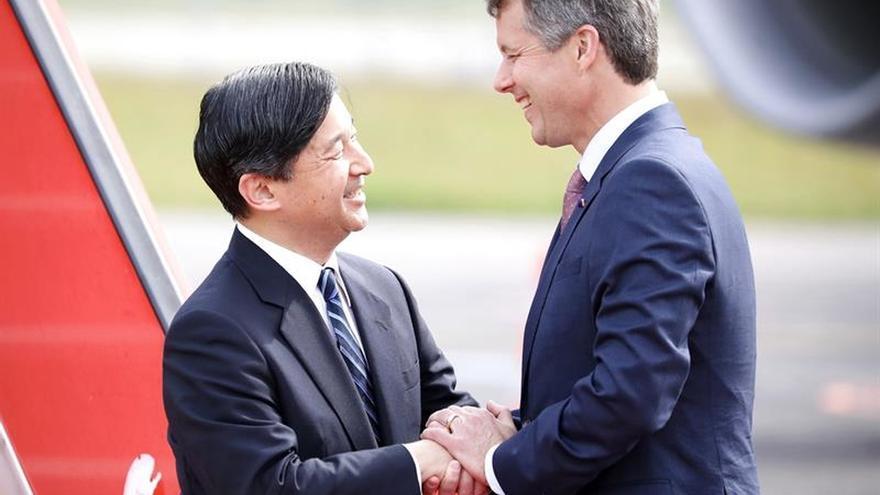 Naruhito llega a Dinamarca para conmemorar 150 años de relaciones con Japón