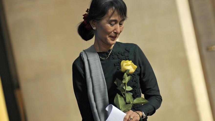 Resultado de imagen de el premio de la paz a la mujer birmana
