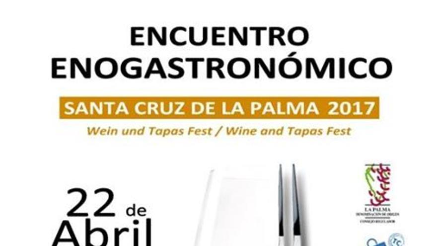 Cartel del encuentro enogastronómico.