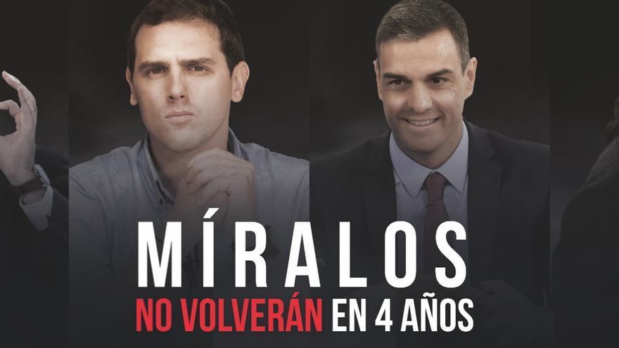 Campaña 'Míralos, no volverán en 4 años', de Nueva Canarias
