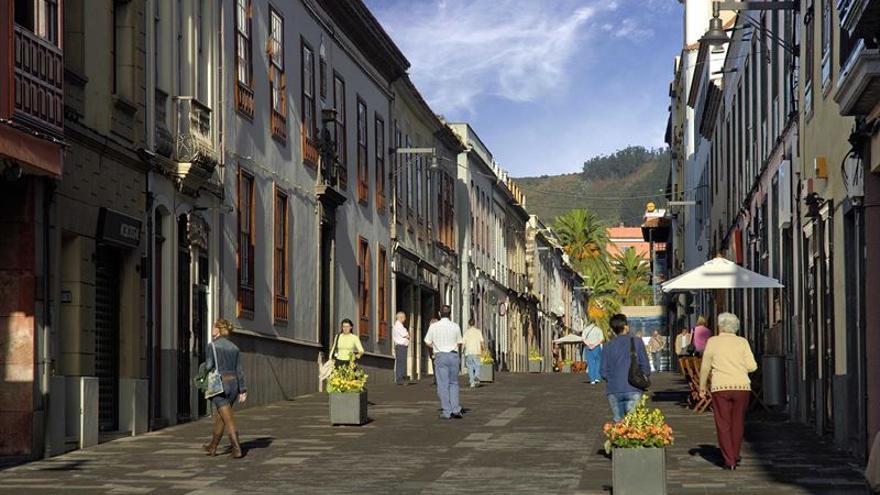 Calle peatonal en el casco histórico de La Laguna / EP