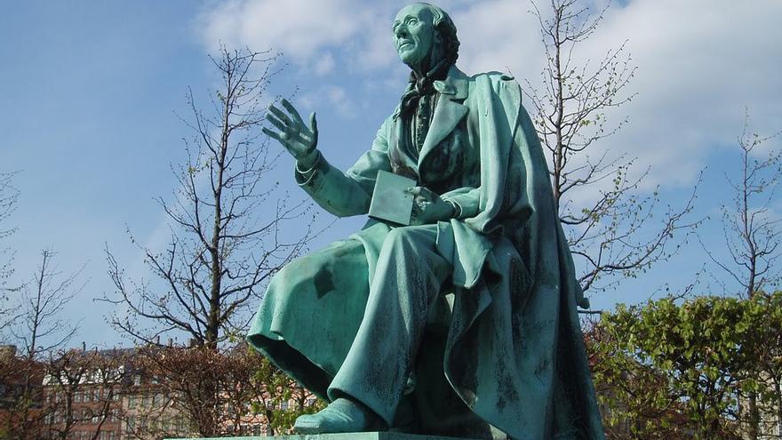 Escultura de Andersen en Rosenborg Garden, Copenhagen. (DP).