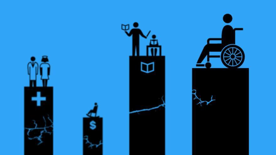 Salud, pensiones, educación y servicios sociales. Cuatro pilares del Estado Social (autor: Jaume Badosa).