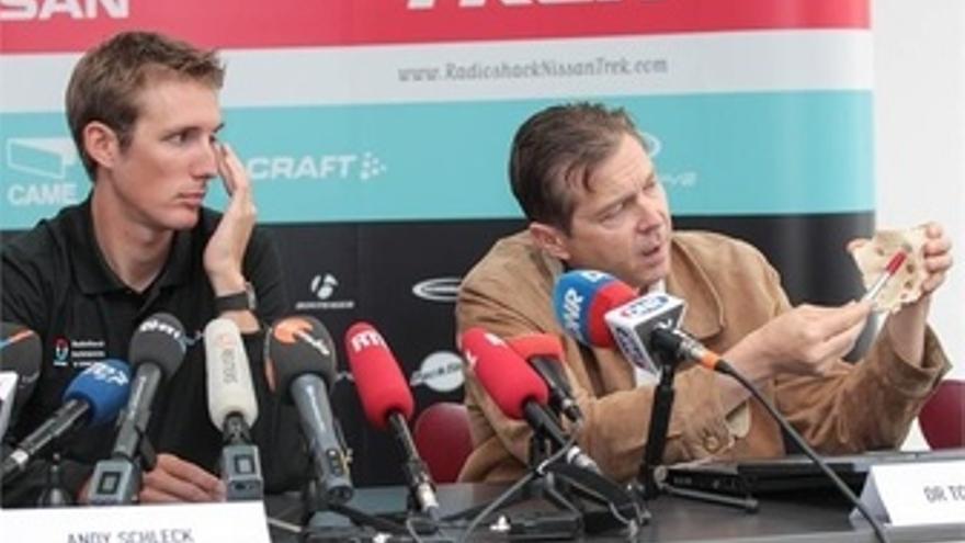 Andy Schleck En Rueda De Prensa