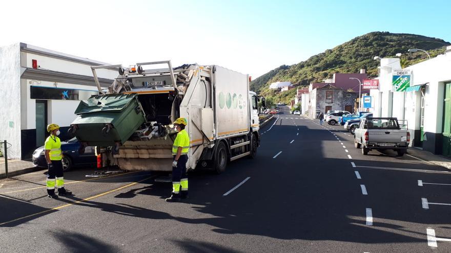 Recogida de residuos del Consorcio de Servicios de La Palma.