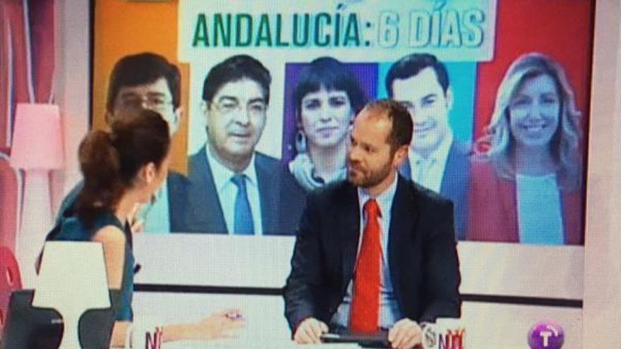 Captura de la imagen de CMT con error en la fotocomposición de candidatos andaluces
