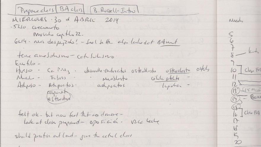 Detalle del cuaderno de Villarroel