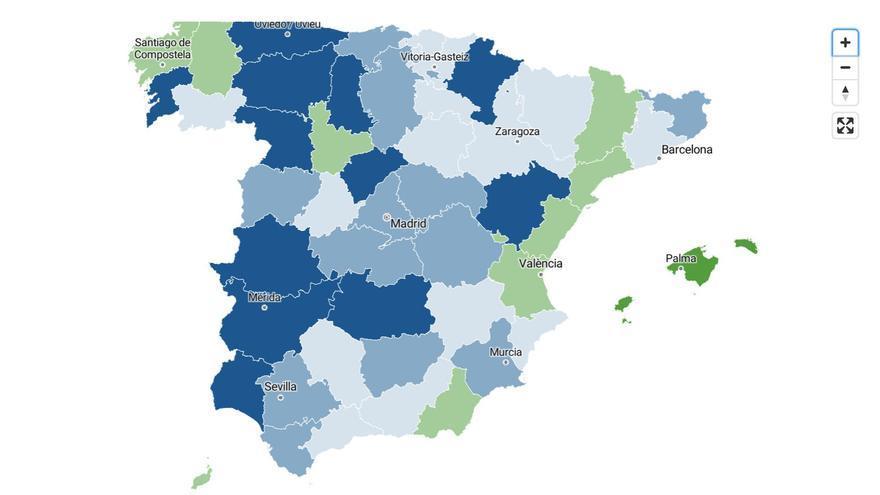 La provincia de Las Palmas logra aplanar la curva de contagios