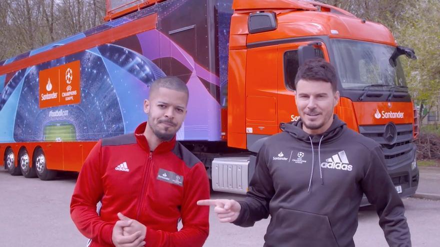 The Prosperity Truck, proyecto de Santander UK para usar estadísticas de la Champions League para enseñar matemáticas.