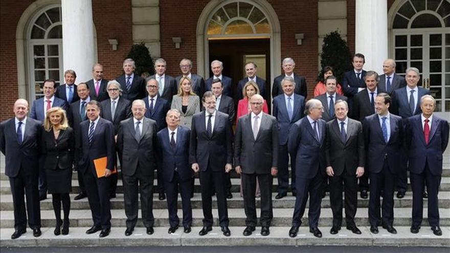 Rajoy en una de sus frecuentes reuniones con empresarios