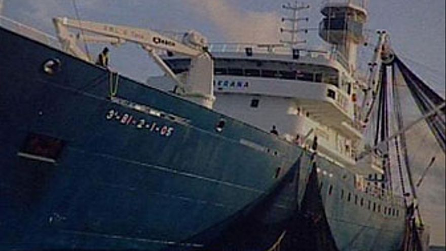 El atunero 'Alakrana', secuestrado en aguas de Somalia. (EP)