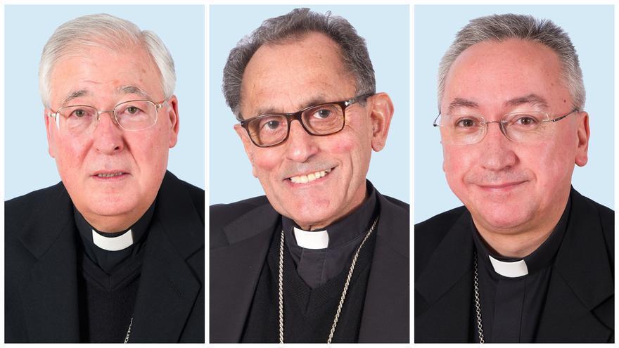Los obispos transfóbicos madrileños Reig Pla, López de Andújar y Rico Ravés.