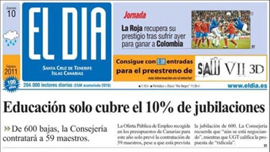 De las portadas del día (10/02/2011) #4